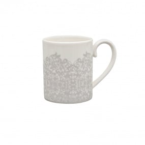 Denby Monsoon Filigree Silver Can Mug
