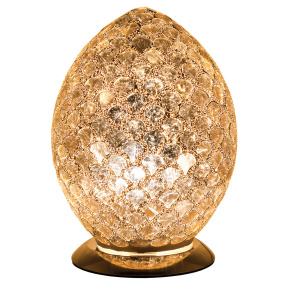 Distressed Gold Medium Egg Mosaic Table Lamp