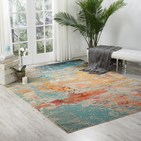 Multi Colour Celestial Sealife Rug | Housing Units