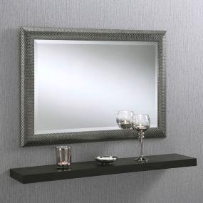Grey Knitted Framed Mirror