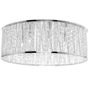 Lefes Chrome Semi Flush LED Light