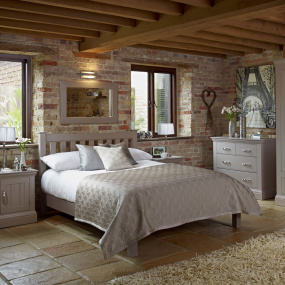 Aurora Grey Painted Bed Frame Collection