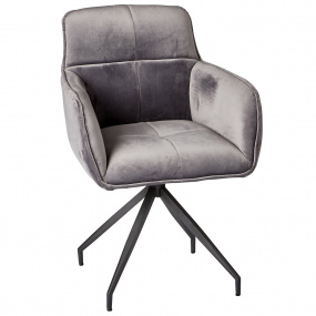Reynolds Grey Velvet Dining Chair