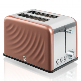 Swan Copper Twist 2 Slice Toaster