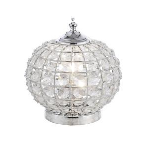 Bollywood Chrome & Crystal Table Lamp