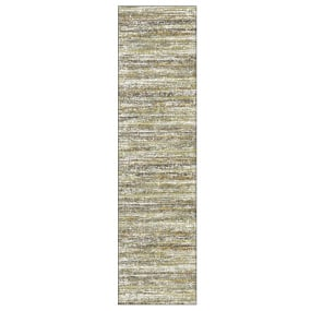 Mehari Beige and Brown Runner 67cm x 240cm