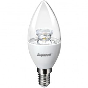 Supacell Digital LED Candle Clear SES E14 3W Bulb