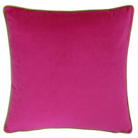 Riva Paoletti Meridian Hot Pink and Lime Cushion Cover