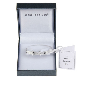 Equilibrium Silver Baby Bangle