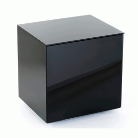 Invictus Black High Gloss Lamp Table - Self Build