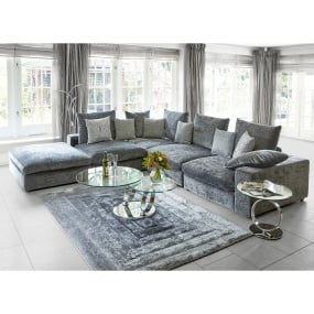 Verge Ridge Black & Grey 160cm x 230cm Rug | Housing Units