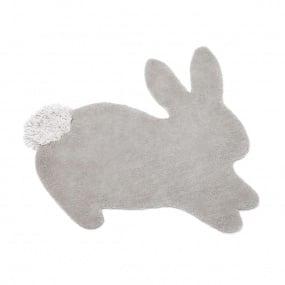 Complete their nursery with this delightful bunny shaped rug, made from the softest hand-tufted wool with a playful Chenille cotton tail