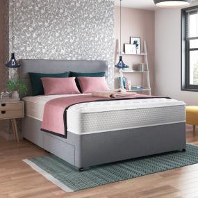 Myers Double Comfort 650 2 Drawer Mist Grey Platform Top Kingsize Divan Bed