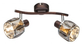 Kris Indiana Twin Wall Light in Bronze & Chrome