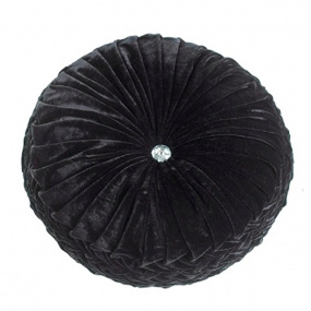 Riva Paoletti Paris Round Cushion Black