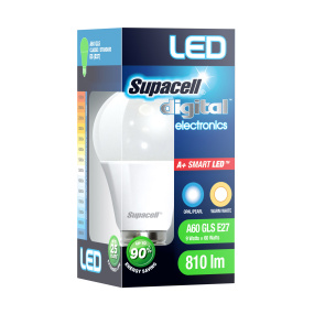 Supacell ES E27 9W GLS LED Opal Light Bulb