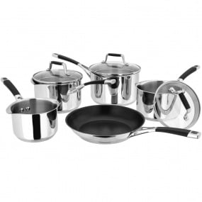 Stellar 5000 Drain and Pour 5 Piece Pan Set