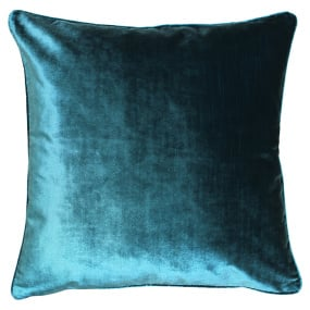 Luxe Teal Velvet Cushion