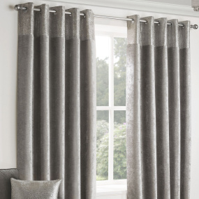 Belfield Nova Silver 66x72 Curtains