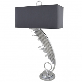 Vitesse Chrome Table Lamp and Shade