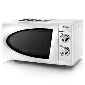 Swan Retro White 800W Manual Microwave