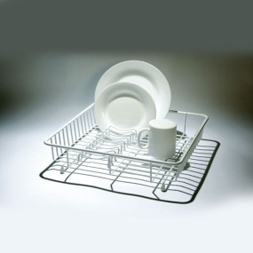 White Plastic Coated Standard Dish Drainer