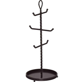 Mikasa Gourmet Basics Rope Cast Base 6 Cup Mug Tree