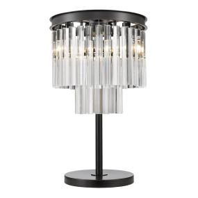 Renate Black & Crystal Table Lamp