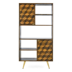 Boston Mango Wood Wide Bookcase