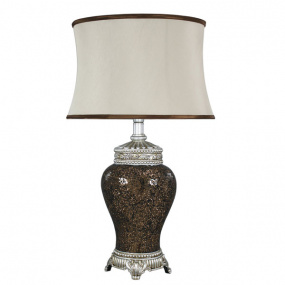 Abri Copper Mosaic Table Lamp and Shade