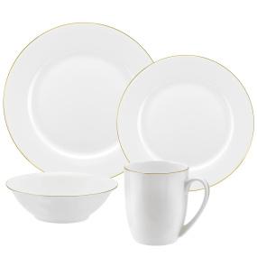Portmeirion Royal Worcester Serendipity Gold 16 Piece Dinner Set