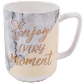 Enjoy Every Moment Marbled Mug