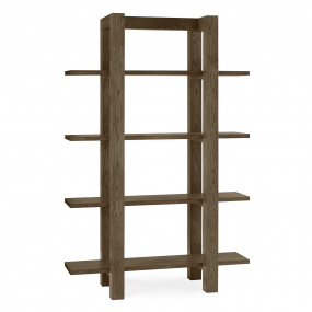 Hennessey Dark Oak Shelf Unit