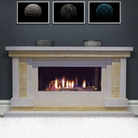 HU Home Strego Limestone Fire Surround