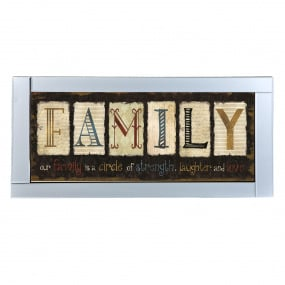 Family with Mirrored Frame