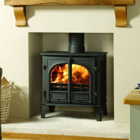 Stovax Stockton 8 Black Flat Top Multi-Fuel Stove