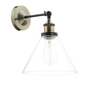 Ray Antique Brass Single Wall Light