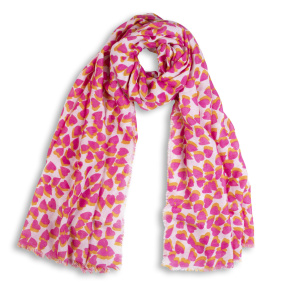 Katie Loxton Pink Heart Print Scarf