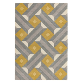Reef RF01 Geometric Ochre & Grey Rug Collection