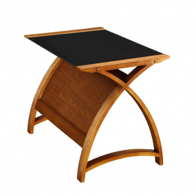 Jual PC201 Curve Small Walnut Laptop Desk