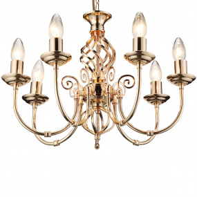 HU Home Barley French Gold 7 Arm Pendant Light