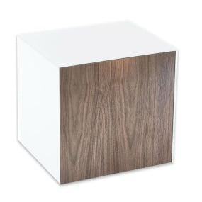 Invictus White and Walnut Lamp Table - Self Build
