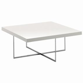 Torino White High Gloss Square Coffee Table