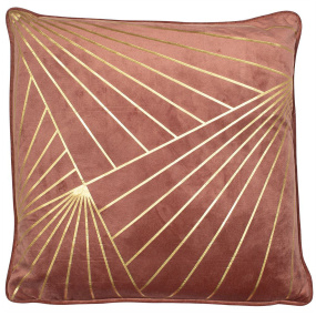 Malini Shifnal Metallic Dusky Pink Cushion
