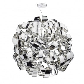 Rawley 12 Light Polished Chrome Pendant Light