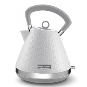 Morphy Richards Vector White Pyramid Kettle