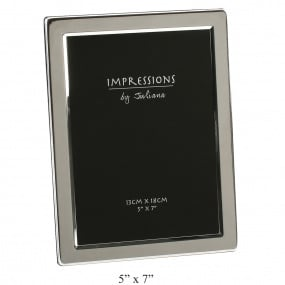 Flat Edge Silver Plated Photo Frame 8 x 10inch