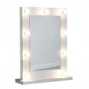Hollywood 9 Light White Vanity Mirror