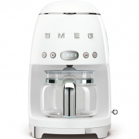 Smeg 50's Retro Style White Coffee Machine with Jug