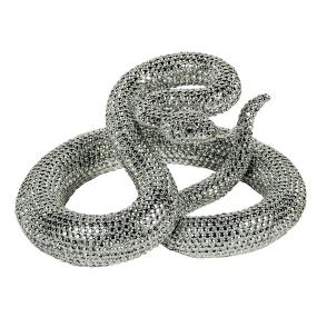 Silver Snake Sculpture